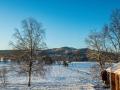 Utsikt från Solåker mot Ljusnan och Järvsö centrum